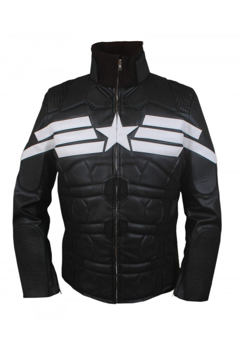 Kids Captain America Winter Soldier Black Jacket