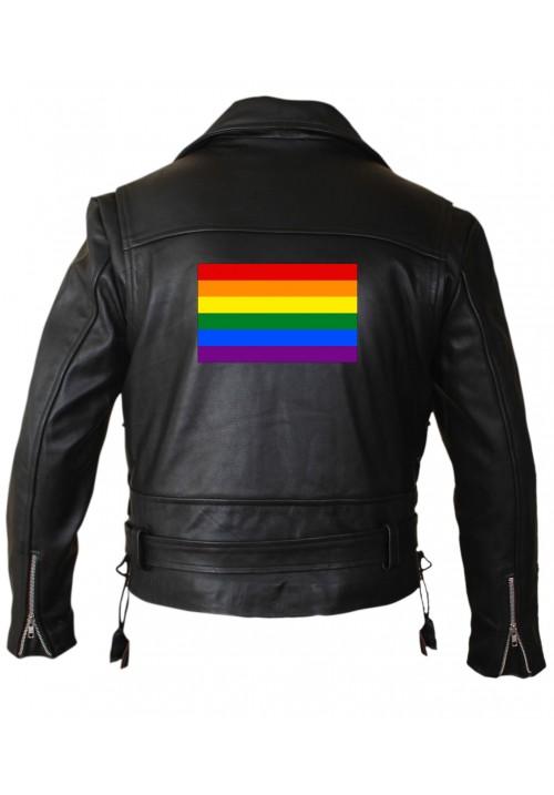 Mens LGBTQ Leather Jacket