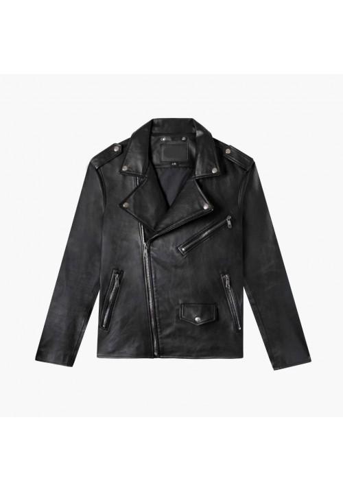 Black Leather Jacket Kids A-2
