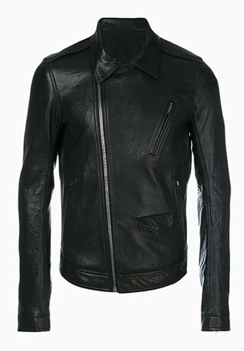 Black Leather Jacket Kids A-7