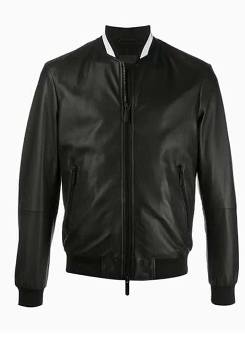 Black Leather Jacket Kids A-9