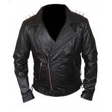 Ghost Rider Nicholas Cage Motorcycle Motorbike Biker Jacket with Metal Spikes