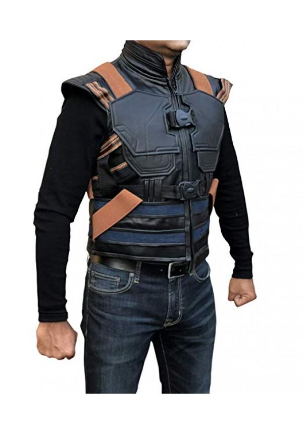 ca08e74cbebaa8 ... Men s Synthetic Leather Avengers Black Panther Erik Killmonger Michael  B. Jordan Vest Killmonger Costume ...