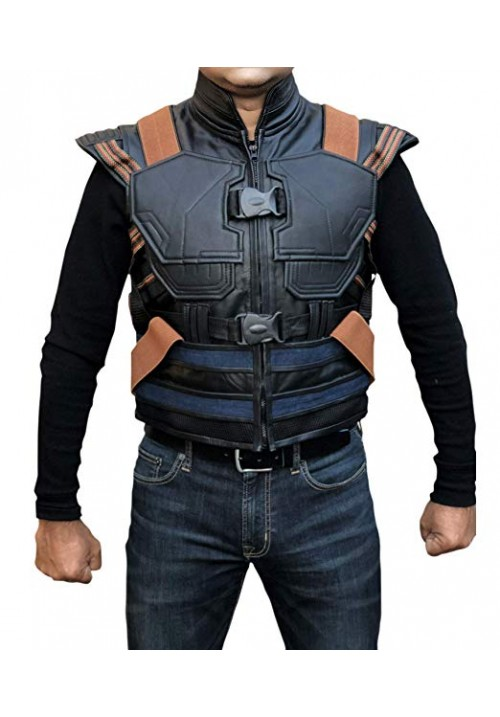 Men's Synthetic Leather Avengers Black Panther Erik Killmonger Michael B. Jordan Vest Killmonger Costume