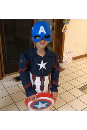 Kids Captain America Jacket