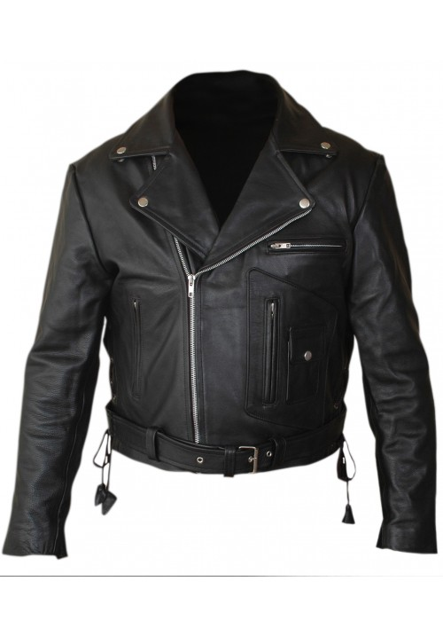 Terminator 2 Judgment Day Arnold Genuine Leather Jacket