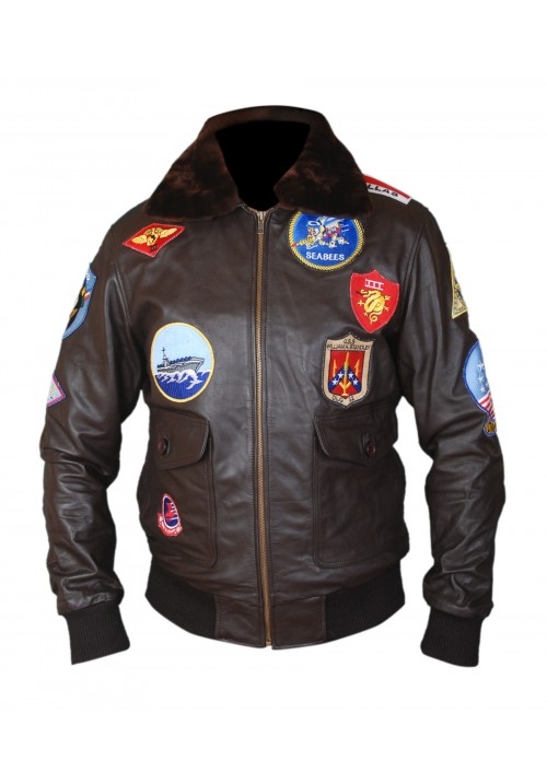 Men's Top Gun Pete Maverick Tom Cruise Flight Brown Jacket