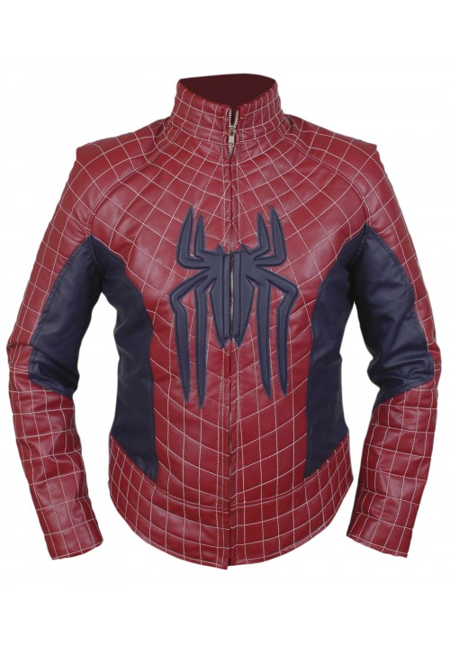 The Amazing Spiderman Jacket with Padded / Embossed Spider Logo
