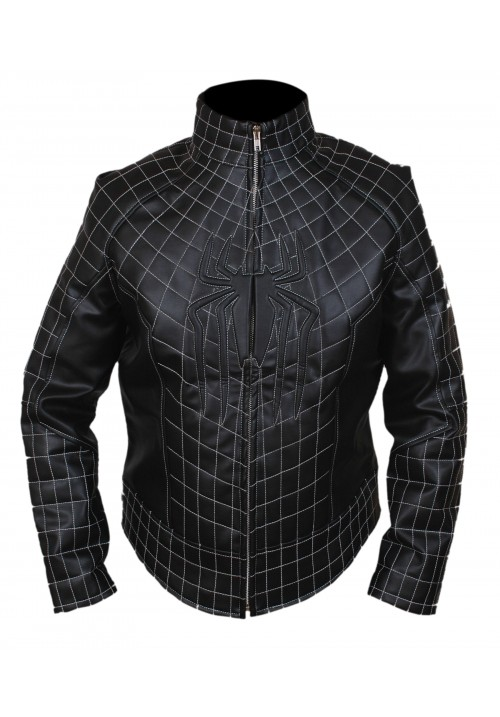The Amazing Spiderman Black Logo Jacket with Padded