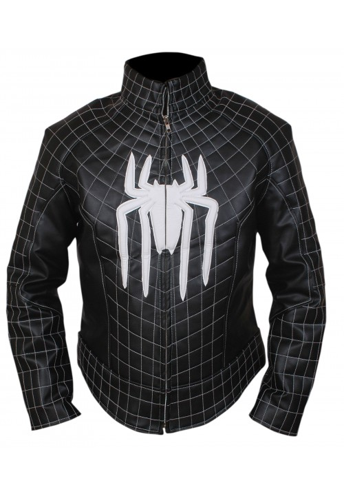 The Amazing Spiderman White Logo Jacket with Padded