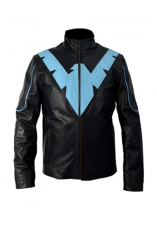 Batman Arkham Knight Nightwing Cosplay Leather Jacket