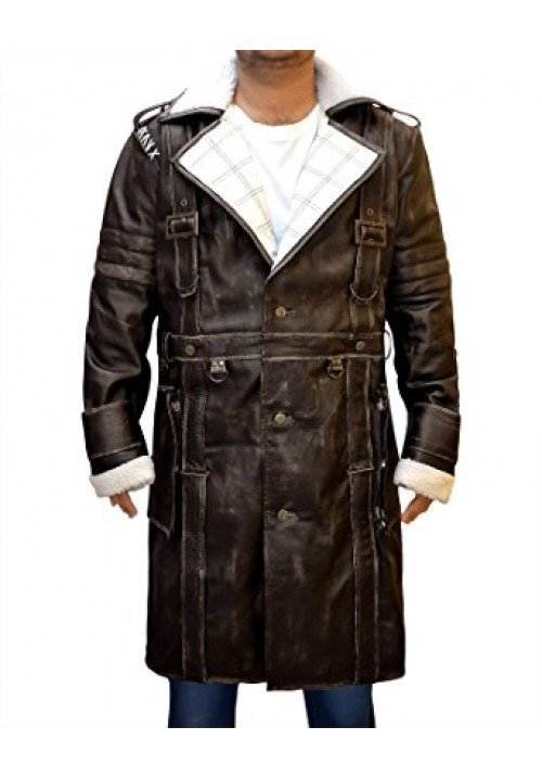 Fallout 4 Costume Elder Authur Maxson Brotherhood Of Steel Leather Coat