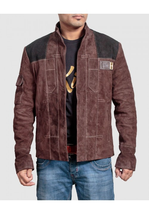 Han Solo Jacket - Kids Suede Leather Jacket