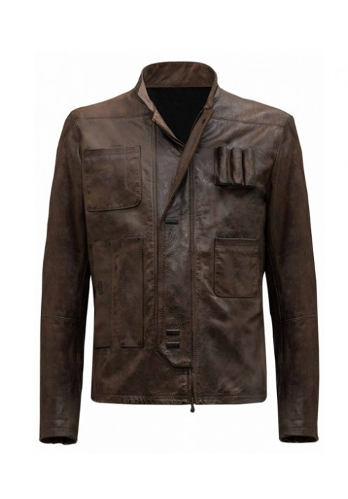 Han Solo Jacket - Kids Brown Leather Jacket