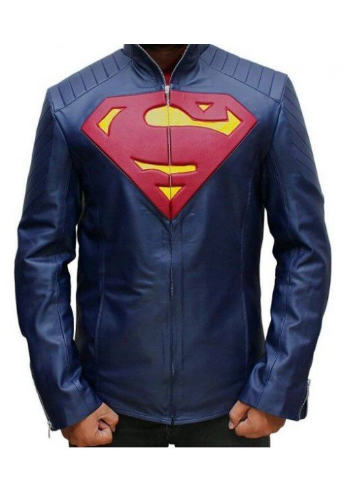 Kids Man of Steel Superman Blue Jacket