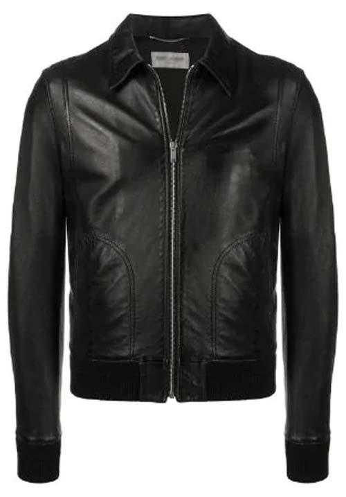 Black Leather Jacket Kids A-6
