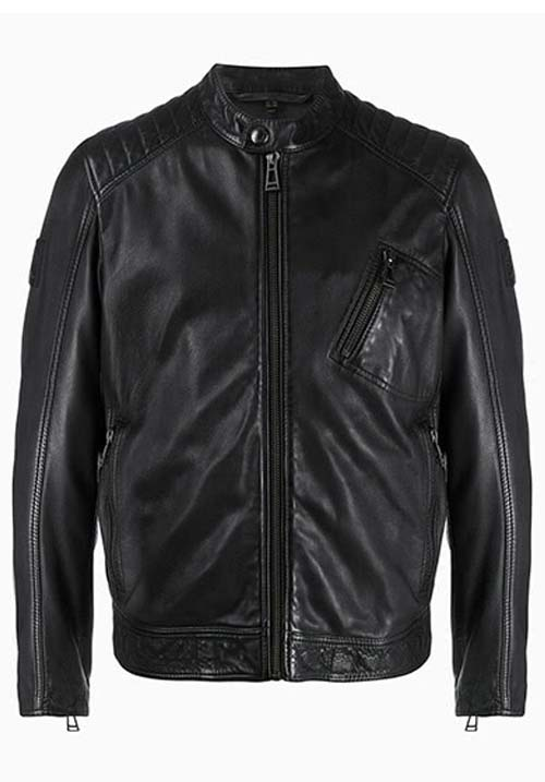 Black Leather Jacket Kids A-8